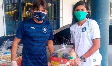 Federação Paraense de Futebol entrega cestas básicas para as categorias de base e feminino