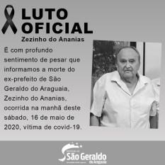Covid-19 mata Zezinho do Ananias, ex-prefeito de São Geraldo do Araguaia