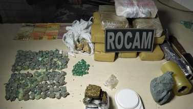 Traficante preso em flagrante com quase 6 quilos de maconha e mais de 2 quilos de crack