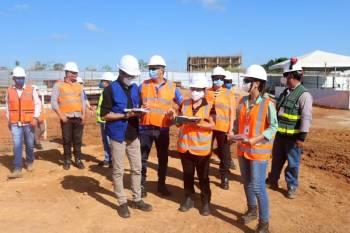 Equipe da Seac inspeciona andamento das obras da Usina da Paz em Canaã dos Carajás