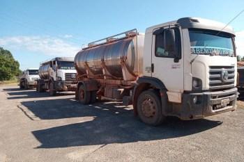Sefa apreende mais 20 mil litros de leite que iam para o Tocantins; em 15 dias, mais de 30 mil litros foram apreendidos