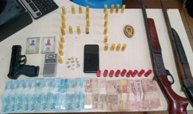 """Novo Repartimento: Operação """"Distrito"""" prende dois e apreende drogas, armas e dinheiro"""