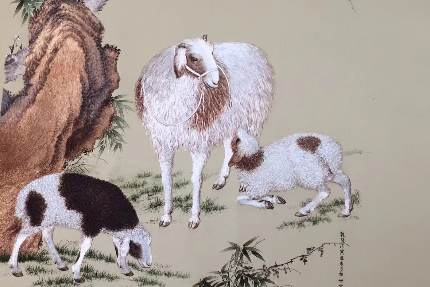 Chinese handicraft-embroidery artworks