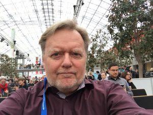 """Hartmut Zeeb bei der Verleihung """"Preis der Leipziger Buchmesse"""""""