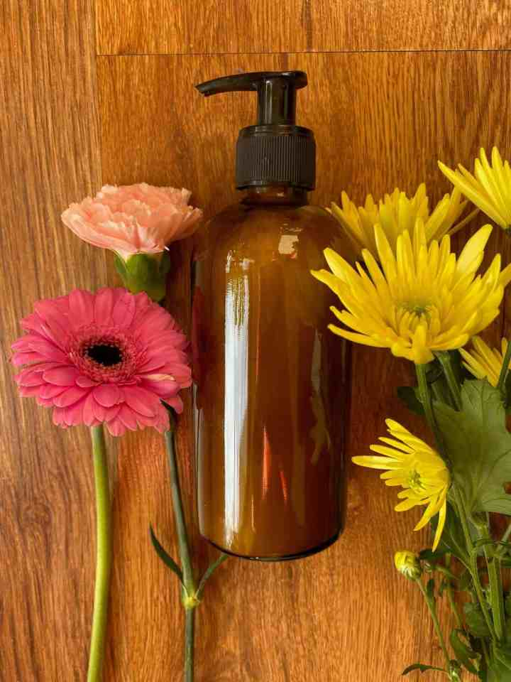 zelfgemaakte douchegel met etherische olie