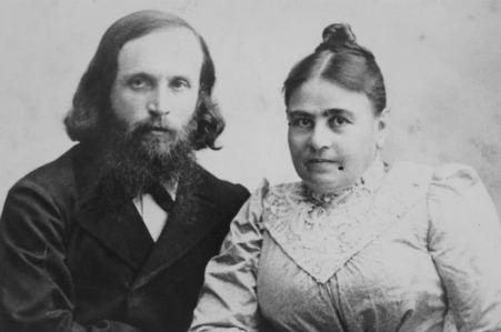 יהושע  חנקין ואשתו המיילדת אולגה