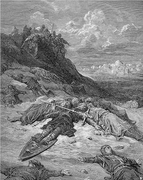 מותו של פרידריך ברברוסה ציור של דורה
