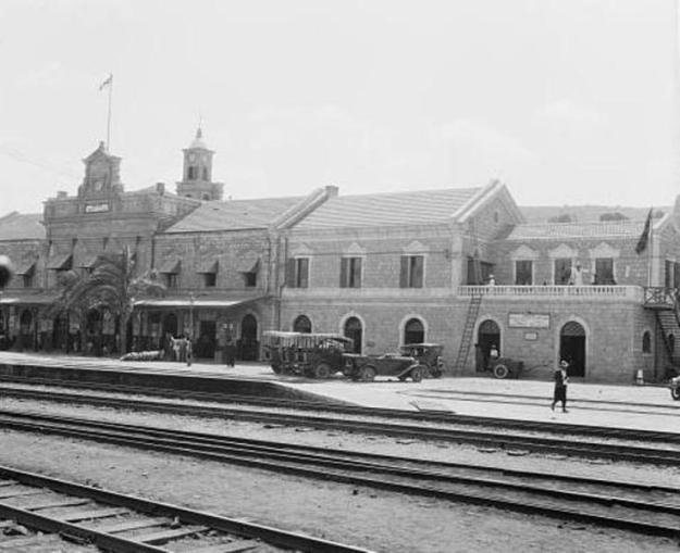 תחנת הרכבת בחיפה 1898 [צילום אמריקן קולוני].