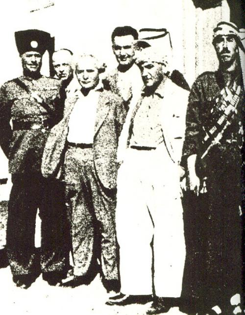 בן גוריון בפגישה עם מנהיגים ערבים בשנות השלושים
