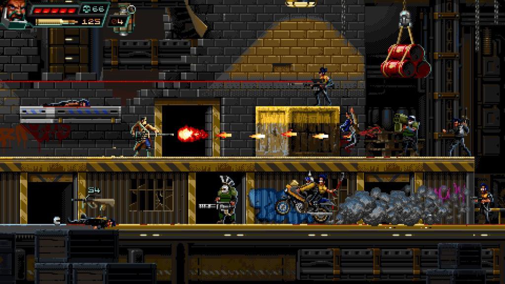 Huntdown - стильный экшен-платформер обзавёлся датой релиза на Nintendo Switch 4