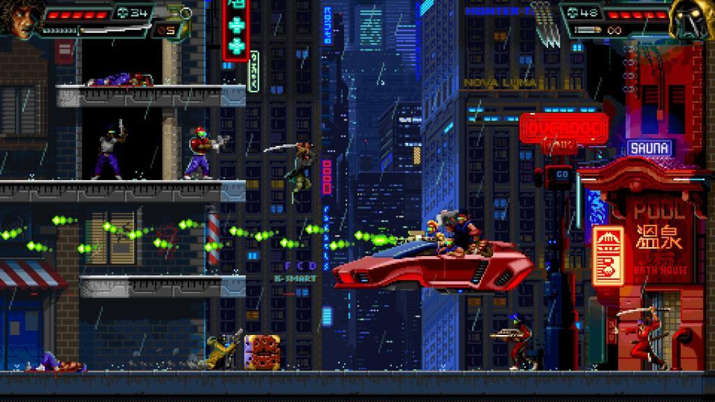 Huntdown - стильный экшен-платформер обзавёлся датой релиза на Nintendo Switch 2
