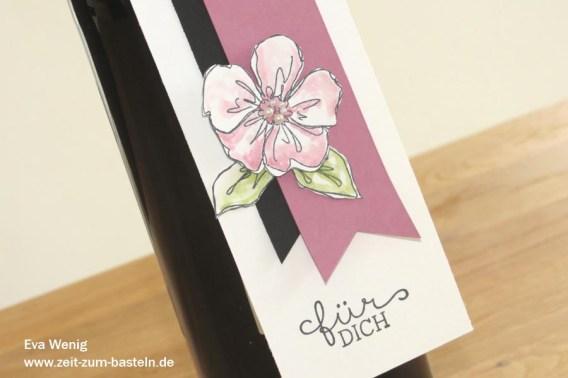 Süßer, blumiger Flaschenanhänger - Stampin up Penned & Painted - www.zeit-zum-basteln.de