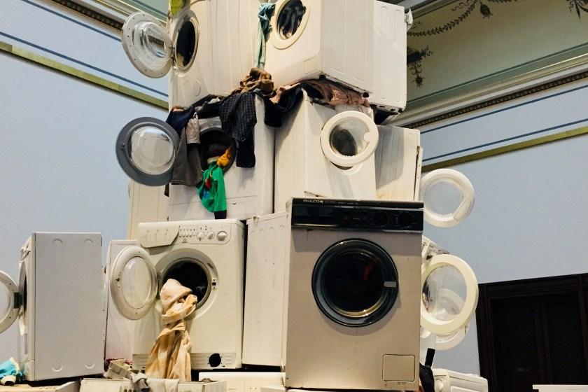 Stapel Waschmaschinen