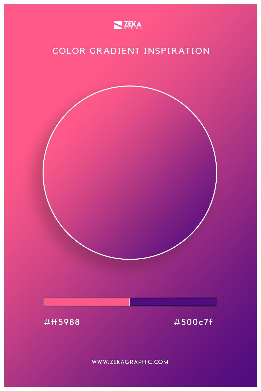 09 Brink Pink Indigo Color Gradient Inspiration