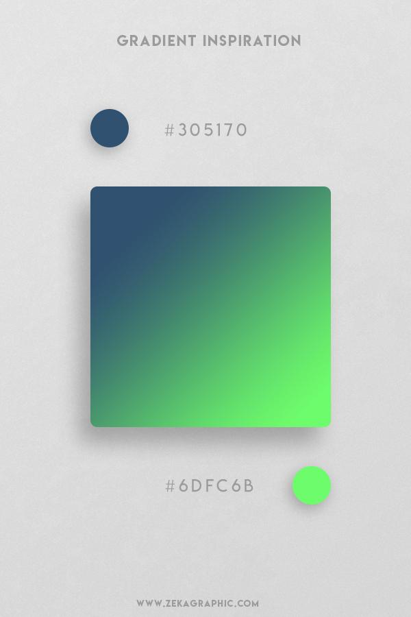16 San Juan Neon Green Beautiful Color Gradient Inspiration Design