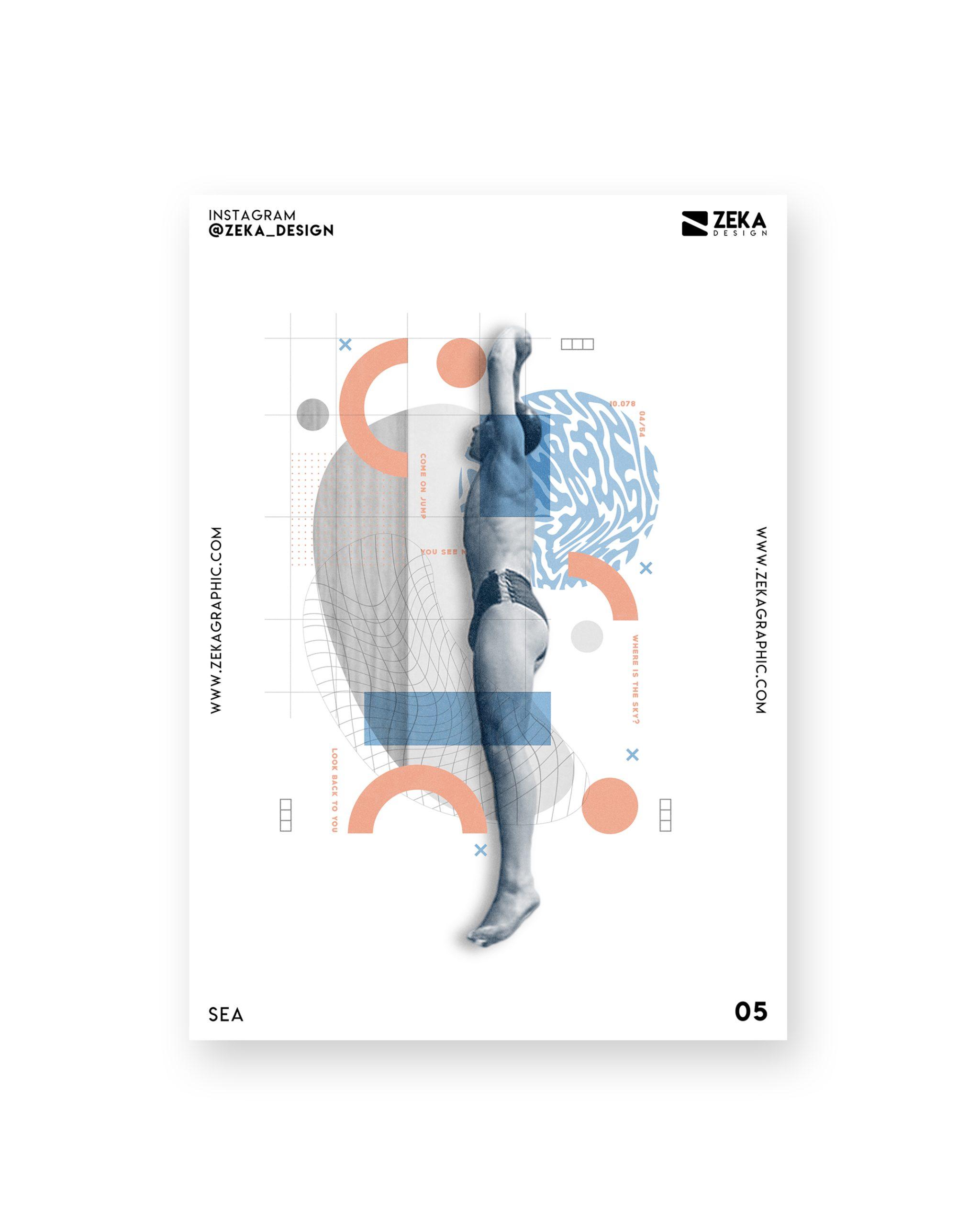 Sea Poster Design Collection Zeka Design