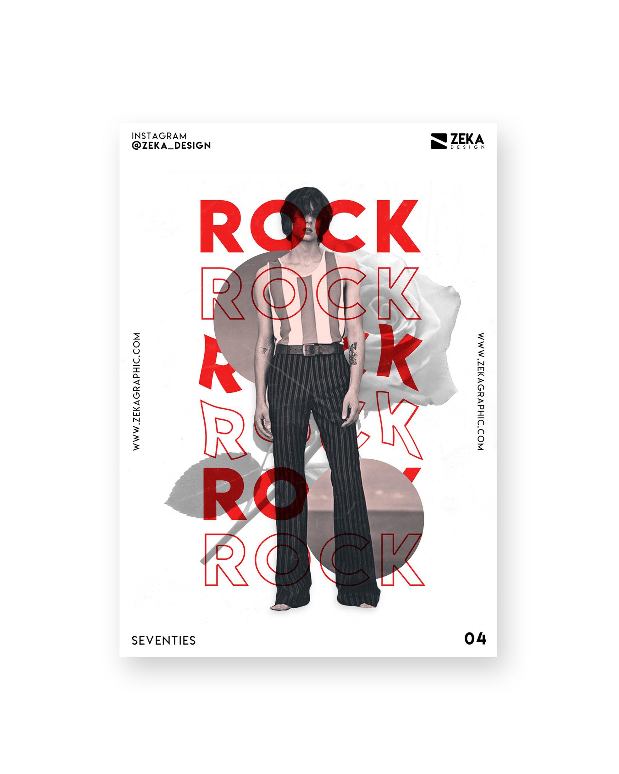 Seventies Poster Design Collection Zeka Design