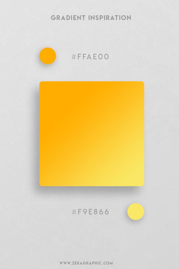 4 Orange Light Yellow Beautiful Color Gradient Inspiration Design