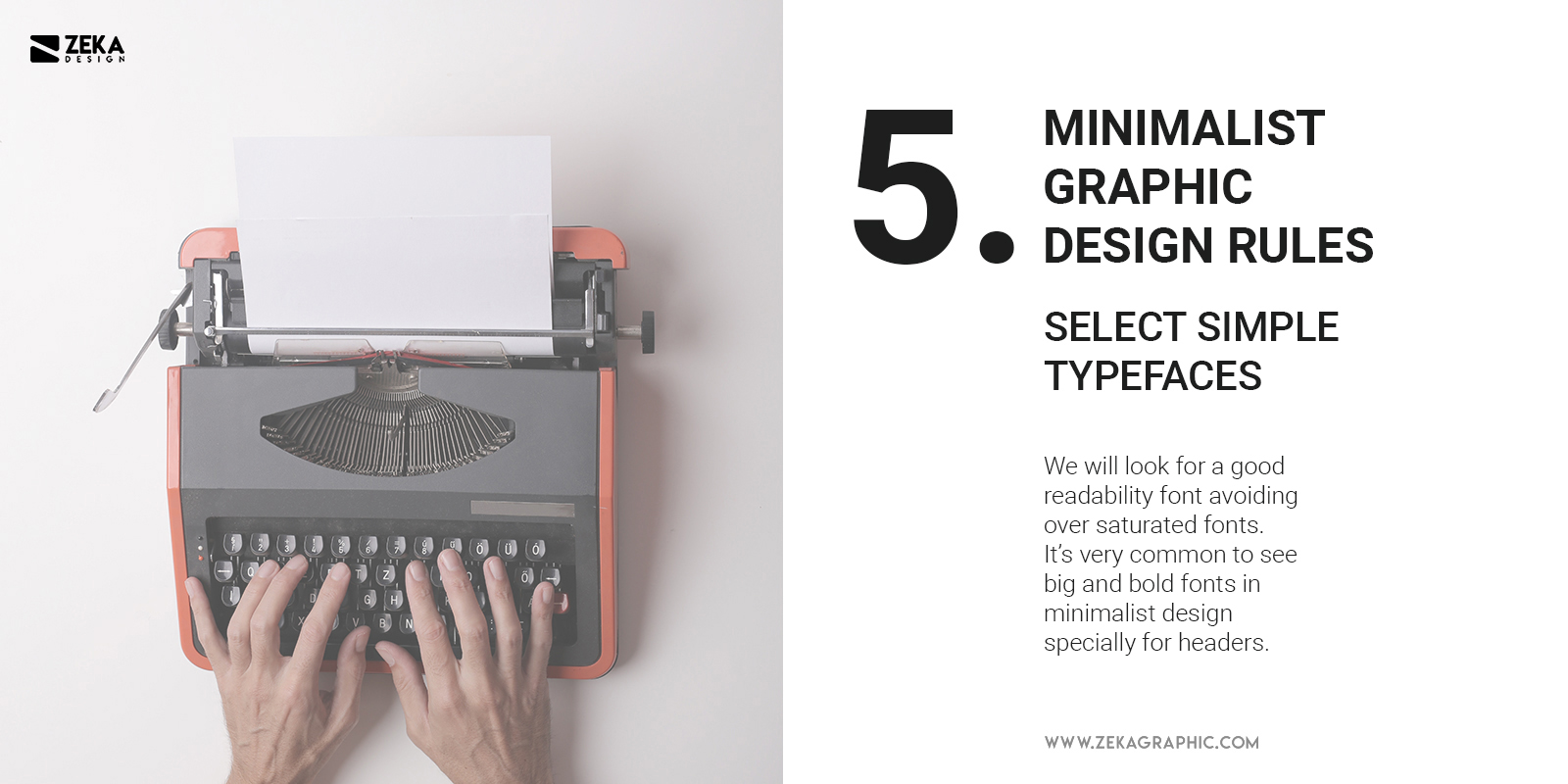 5 Minimalist Graphic Design Rules Simple Fonts v2