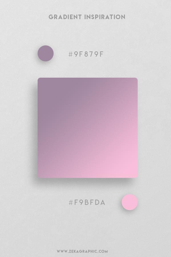 6 Venus Chantilly Beautiful Color Gradient Inspiration Design