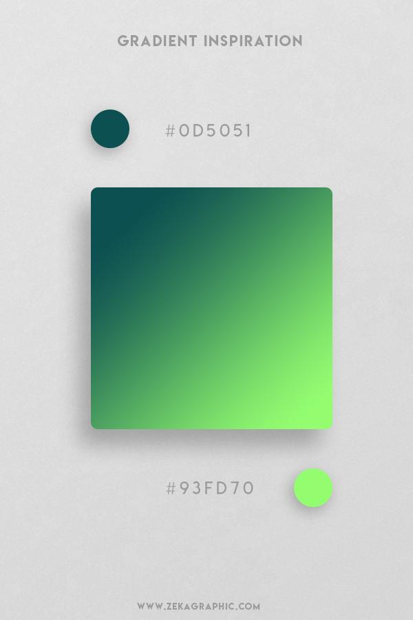 8 Eden Light Green Beautiful Color Gradient Inspiration Design