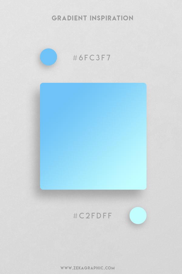 8 Malibu Pale Turquoise Beautiful Color Gradient Inspiration Design