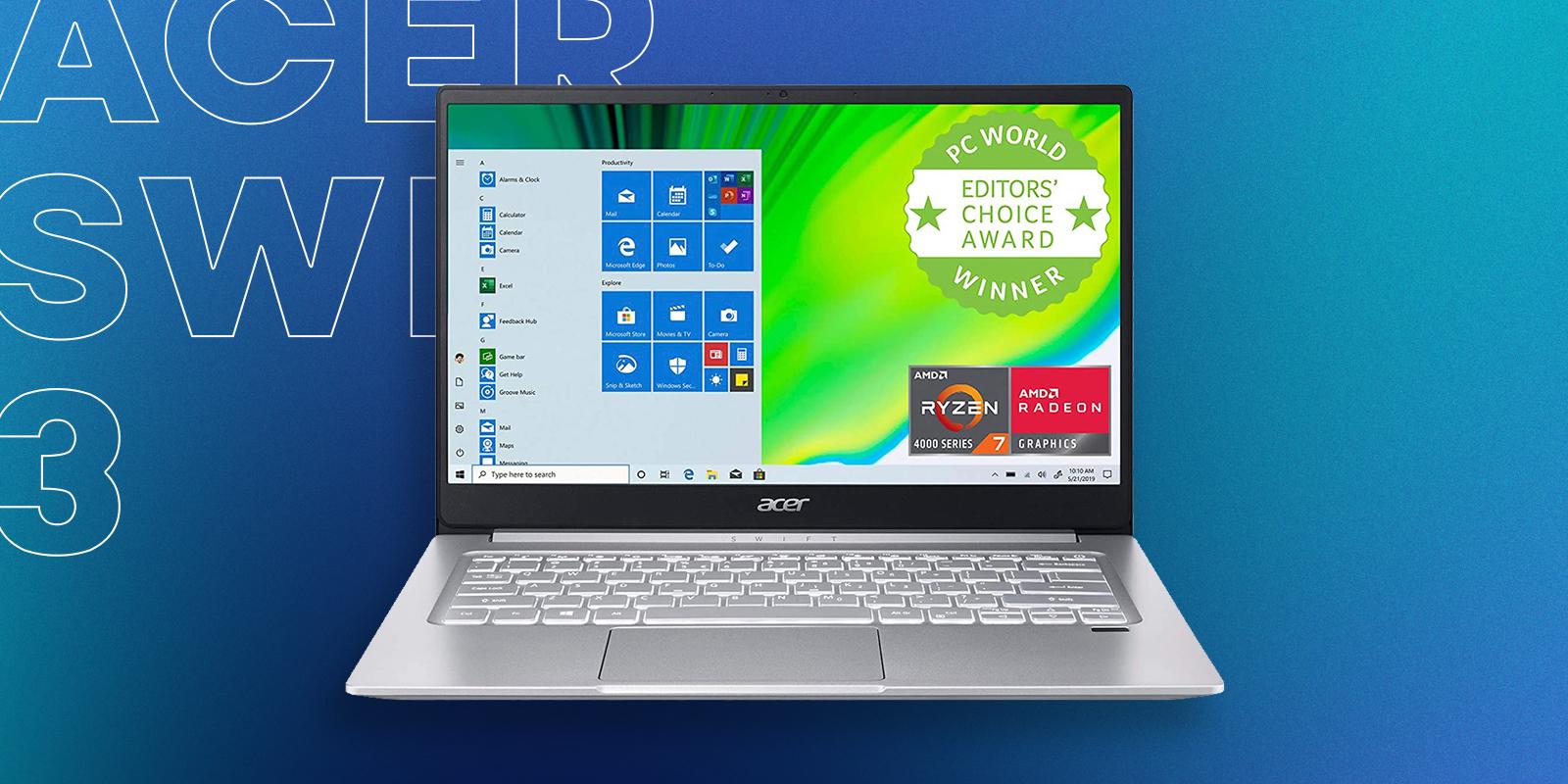 Acer Swift 3 AMD Ryzen Best Budget Laptop For Graphic Design