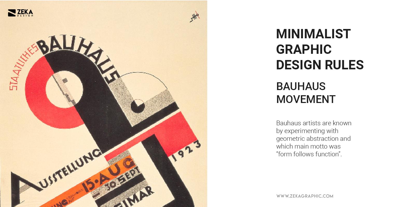 Bauhaus Minimalist Graphic Design Rules