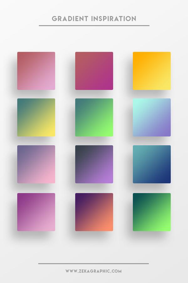 Beautiful Color Gradient Part 3 Design Inspiration and Color Ideas