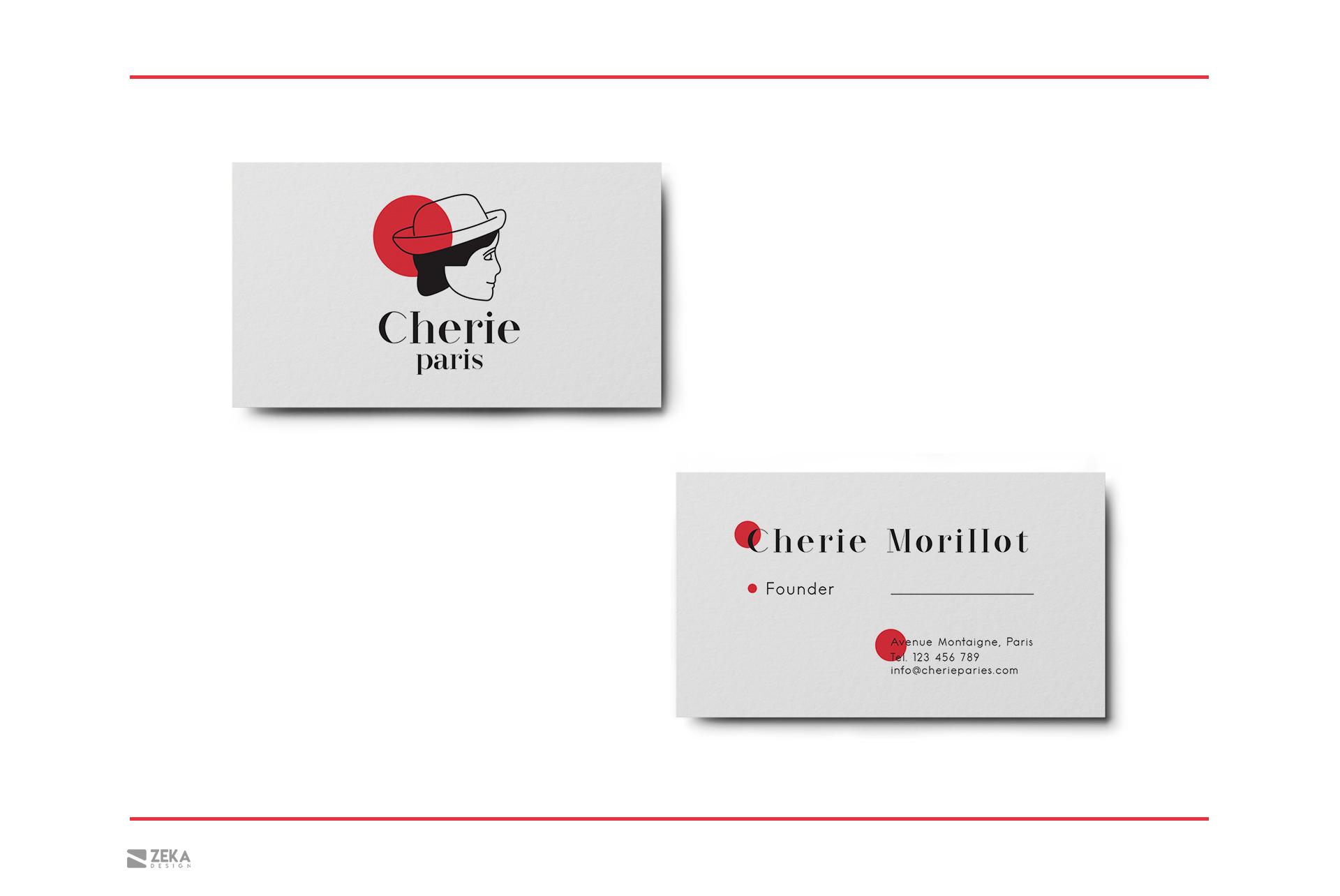 Cherie Paris Logo Design and Brand Identity Concept