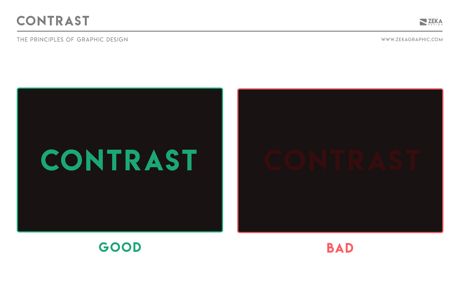 Contrast Principle in Graphic Design