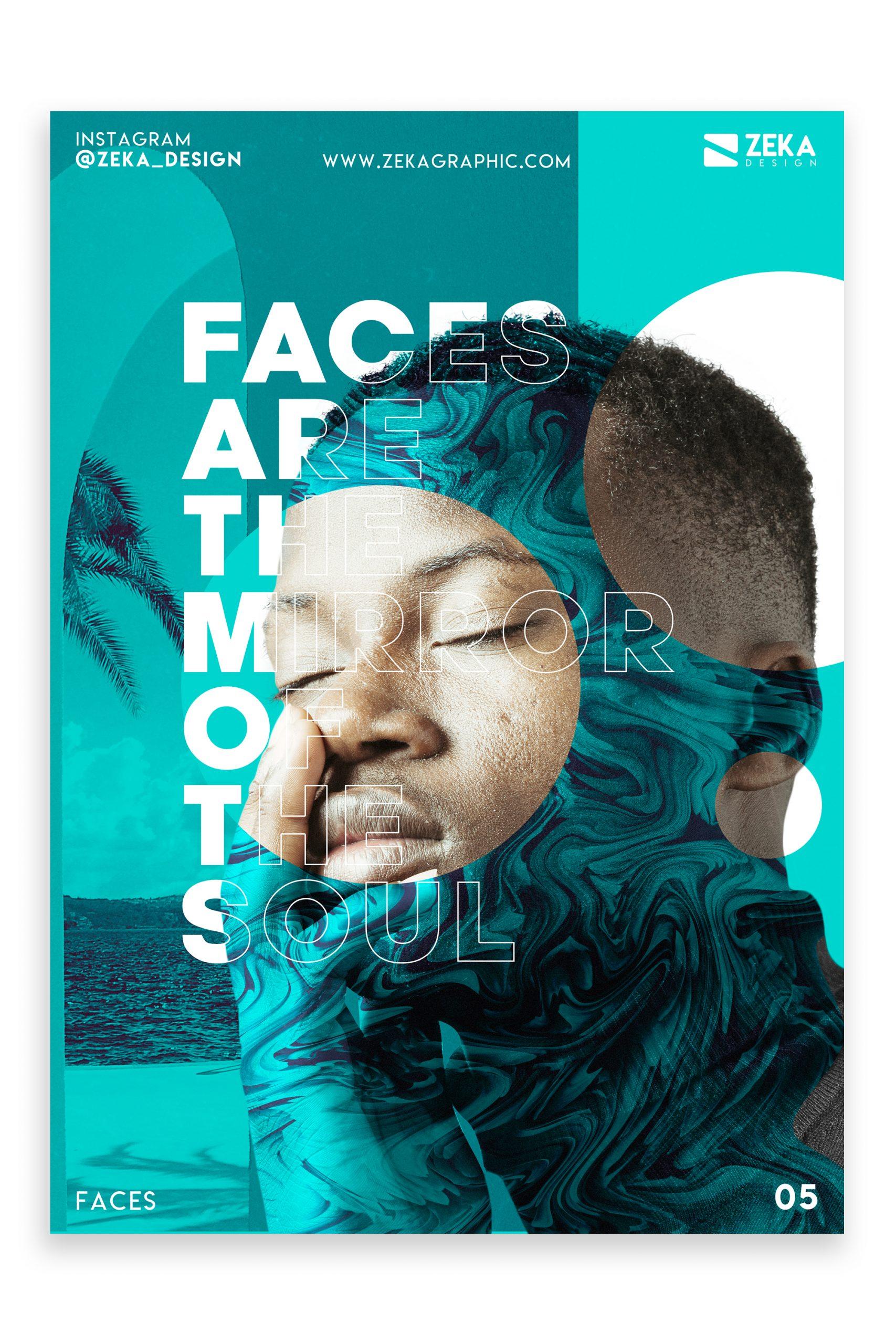 Faces Poster Design Inspiration Graphic Design Portfolio 5