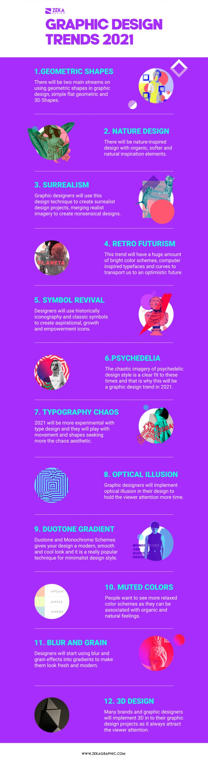 Graphic Design Trends 2021 Infographic