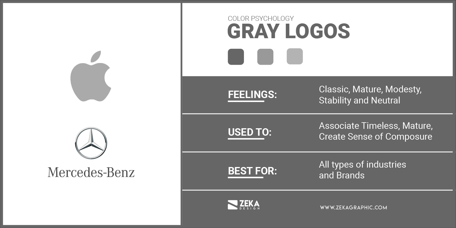 Gray Logos Meaning in Graphic Design