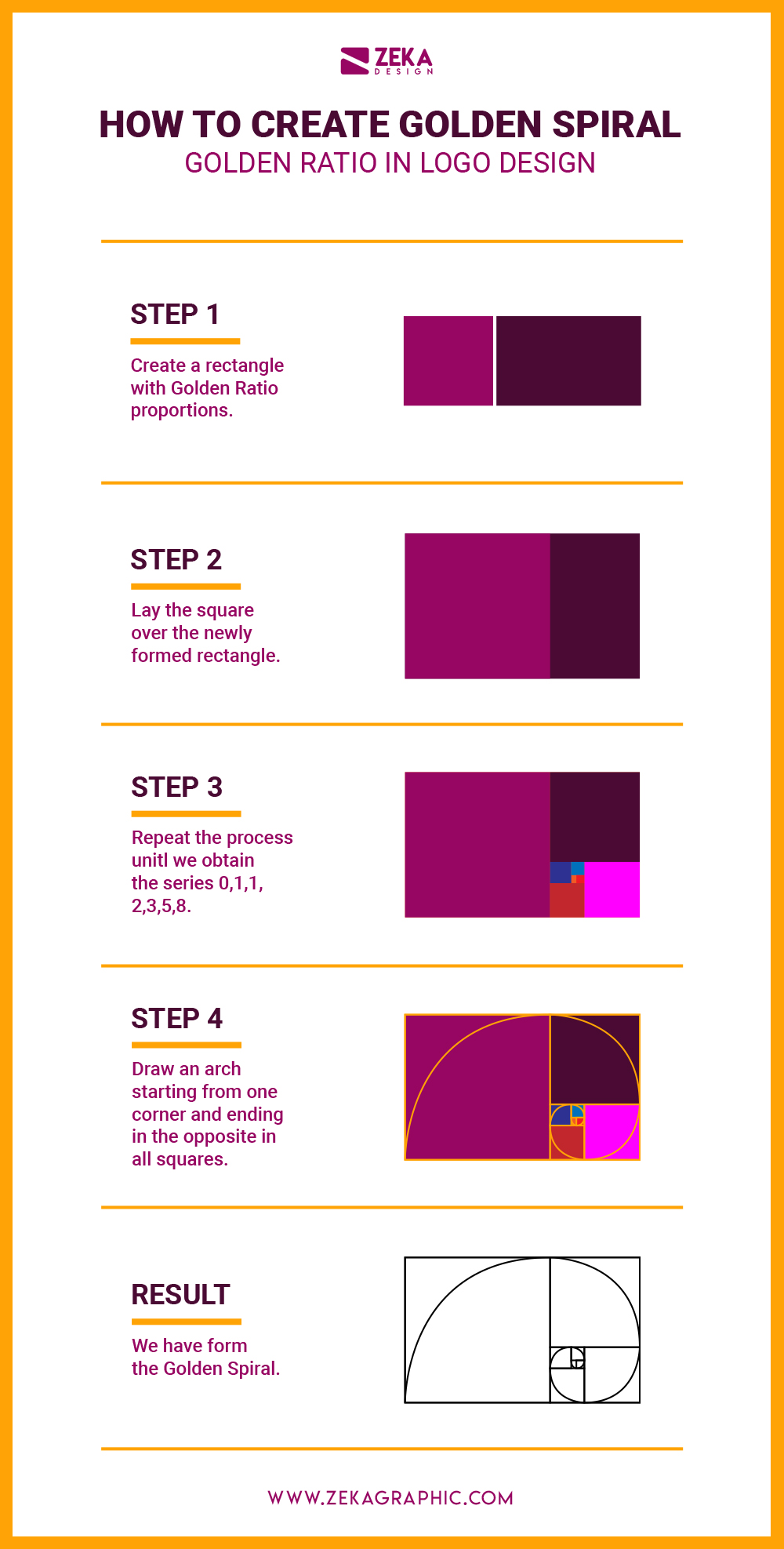 How To Create a Golden Spiral Infographic Golden Ratio Logo