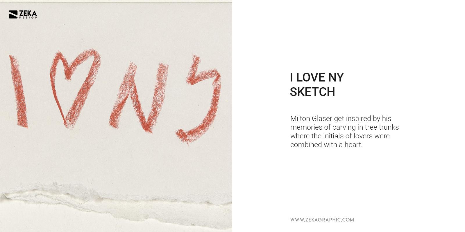 I Love New York Logo Design Sketch by Milton Glaser