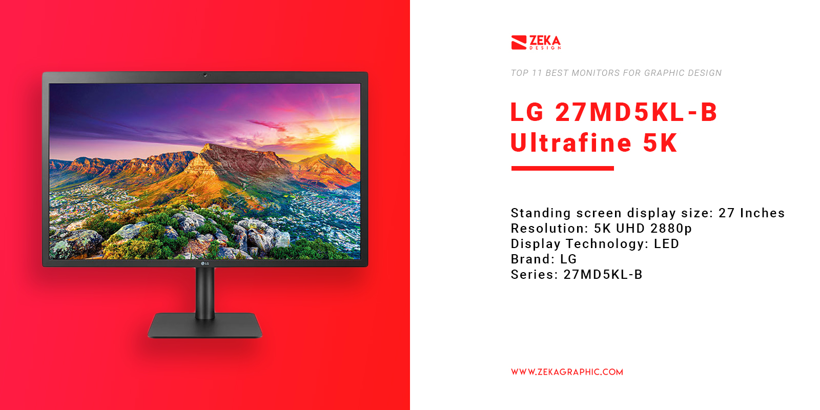 LG 27MD5KL-B Ultrafine 5K Monitor for Graphic Design