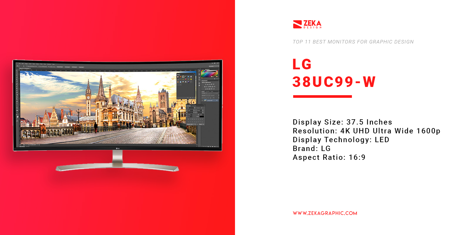 LG 38UC99-W 4K Monitor for Graphic Design