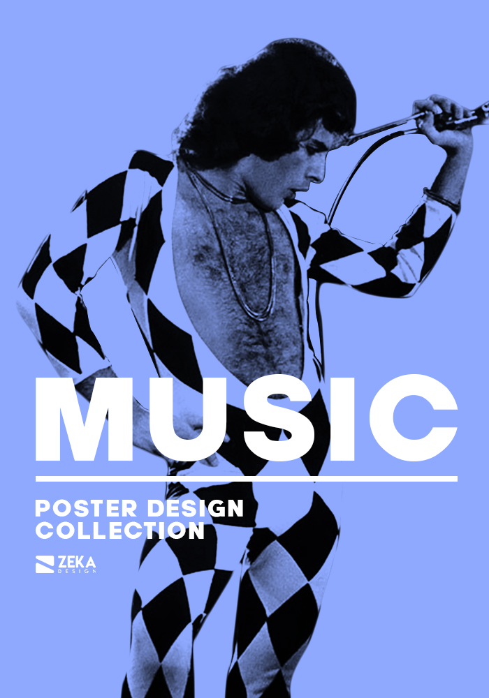 Music Poster Design Series By Zeka Design Graphic Design Inspiration