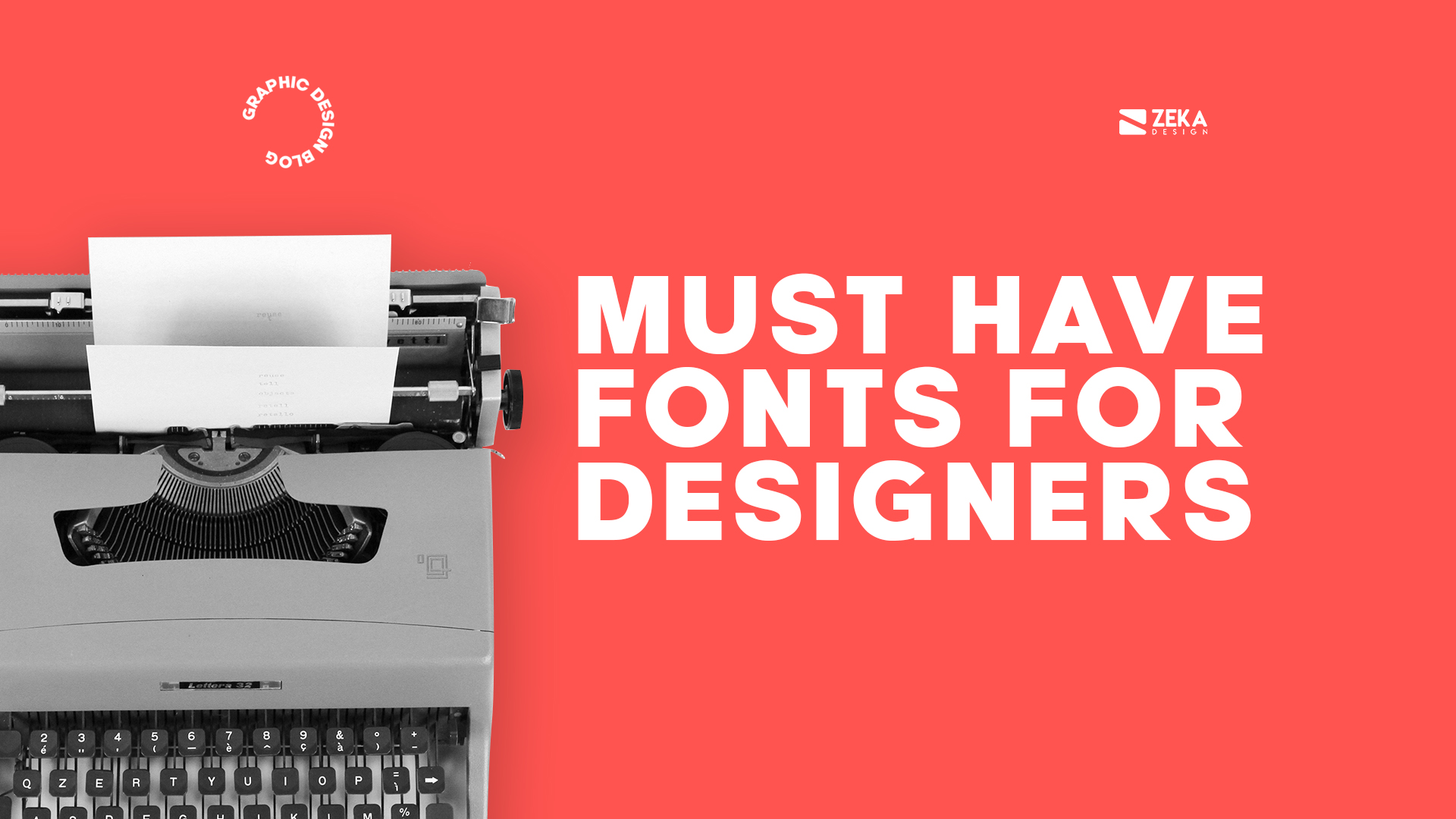 Must have fonts for graphic designers and creatives