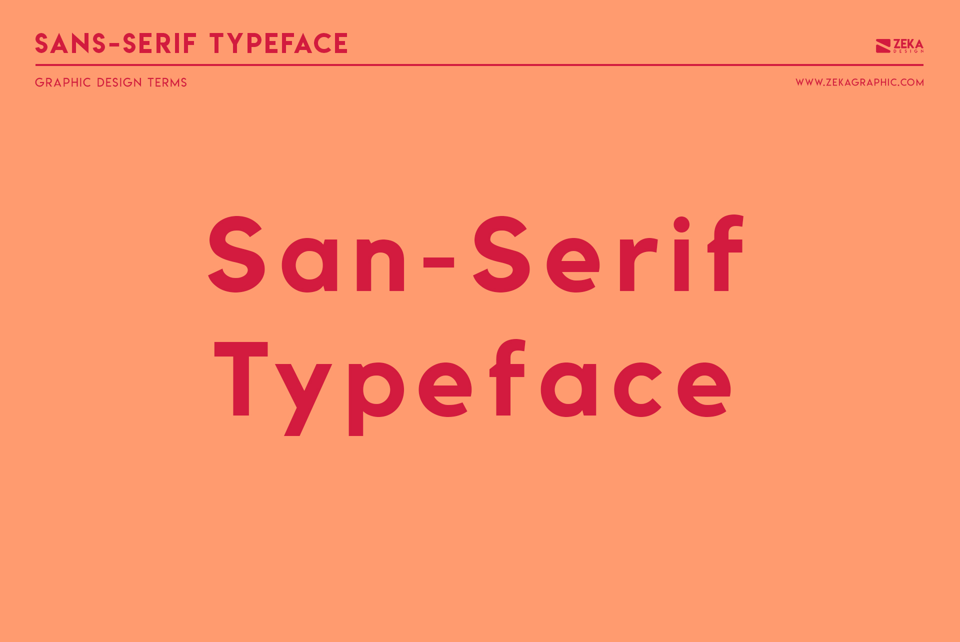 San Serif Typeface Graphic Design Terms