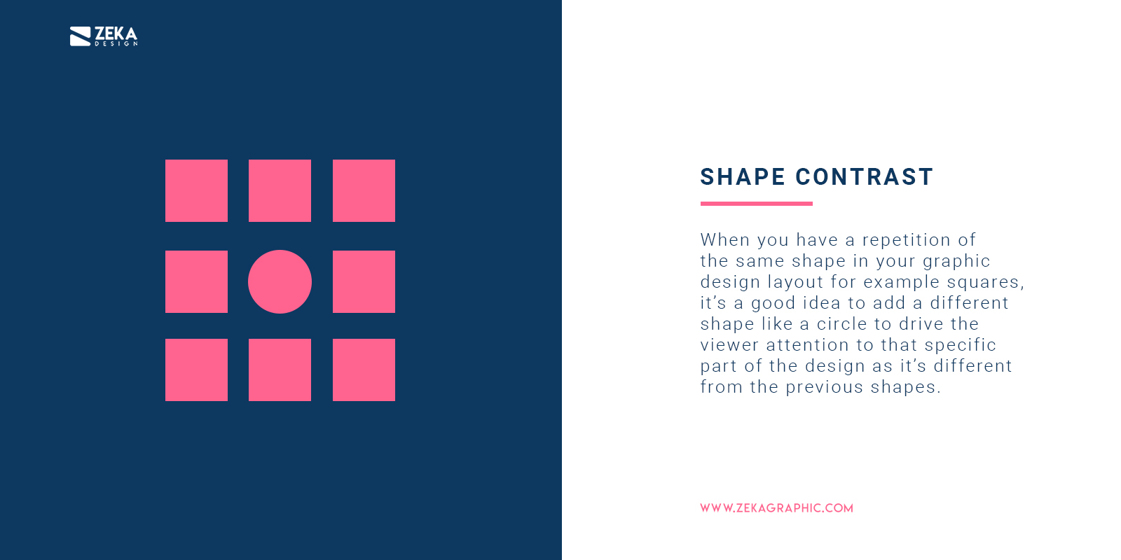 How To Use Shape Contrast in Graphic Design