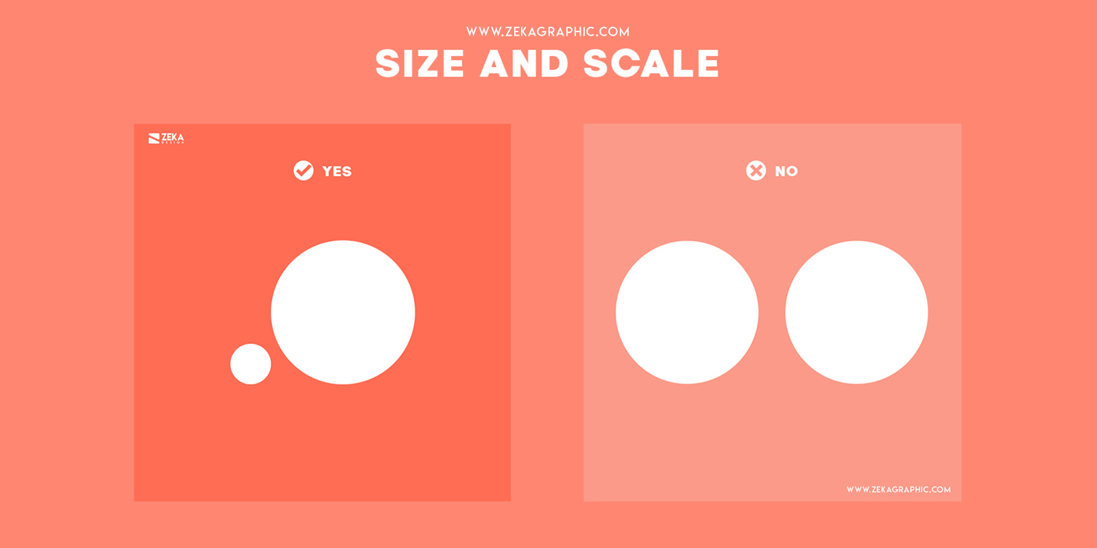 Size and Scale Visual Hierarchy Principles in Graphic Design