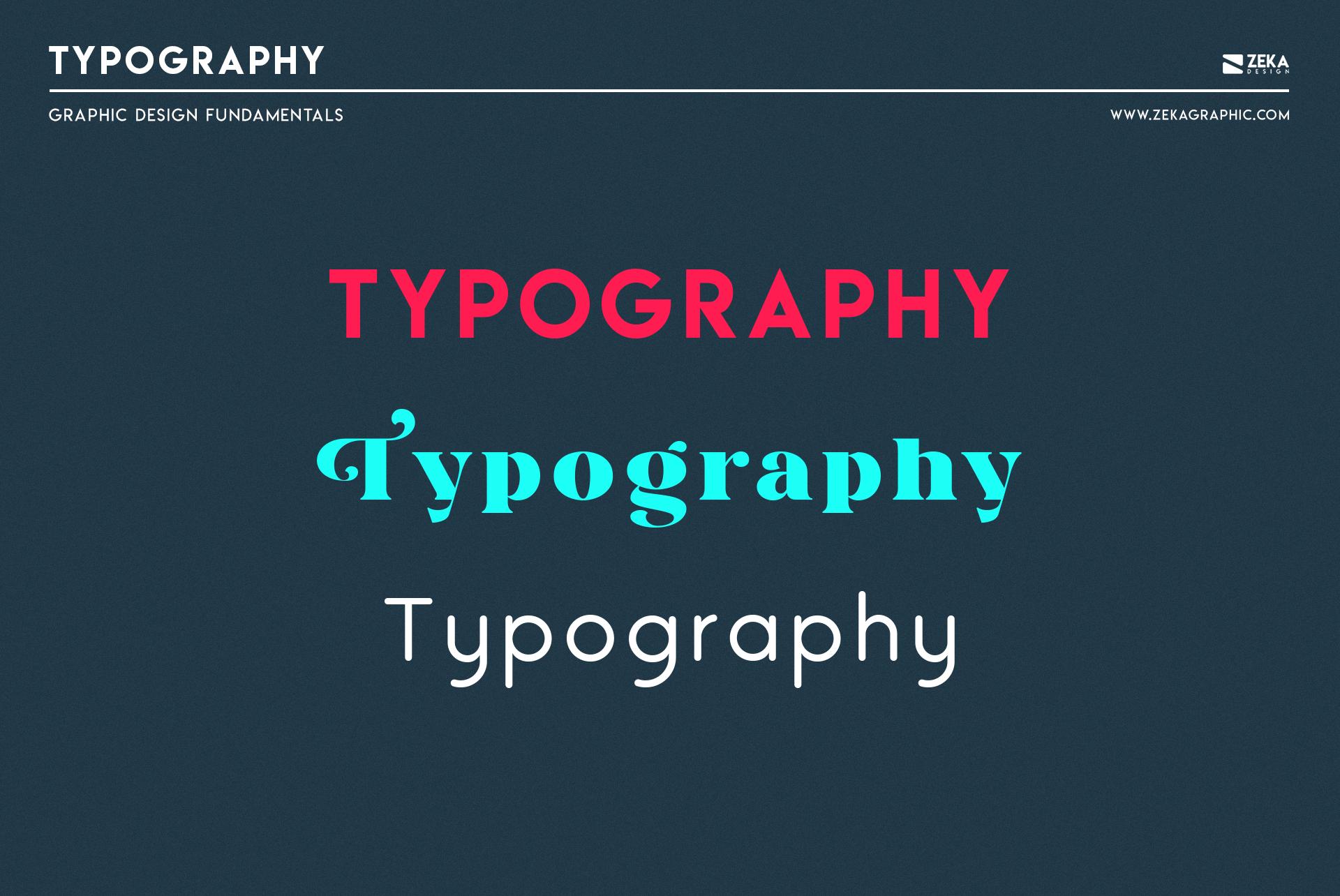 Typography Graphic Design Fundamental Elements