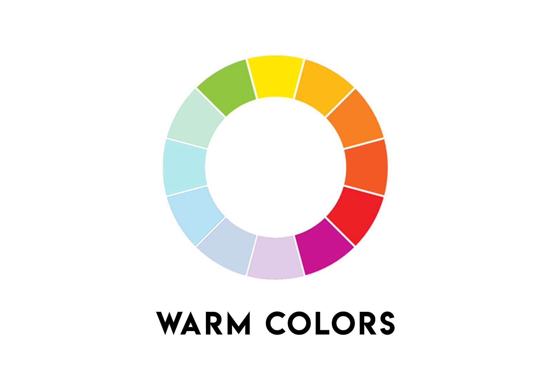 What is warm colors Graphic Design Most used terms about color in design