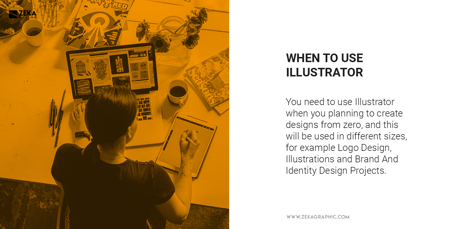 When To Use Illustrator for graphic design and logo design