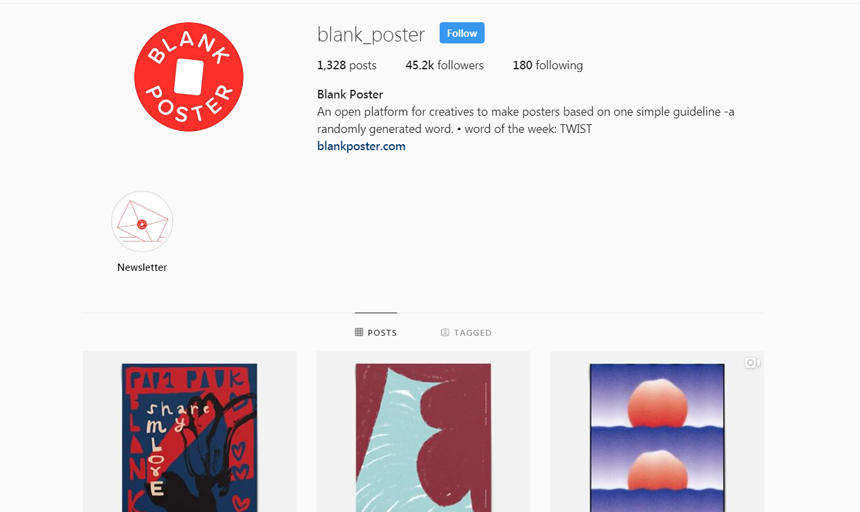 Best Instagram Accounts to Follow on Instagram For Inspiration blank poster