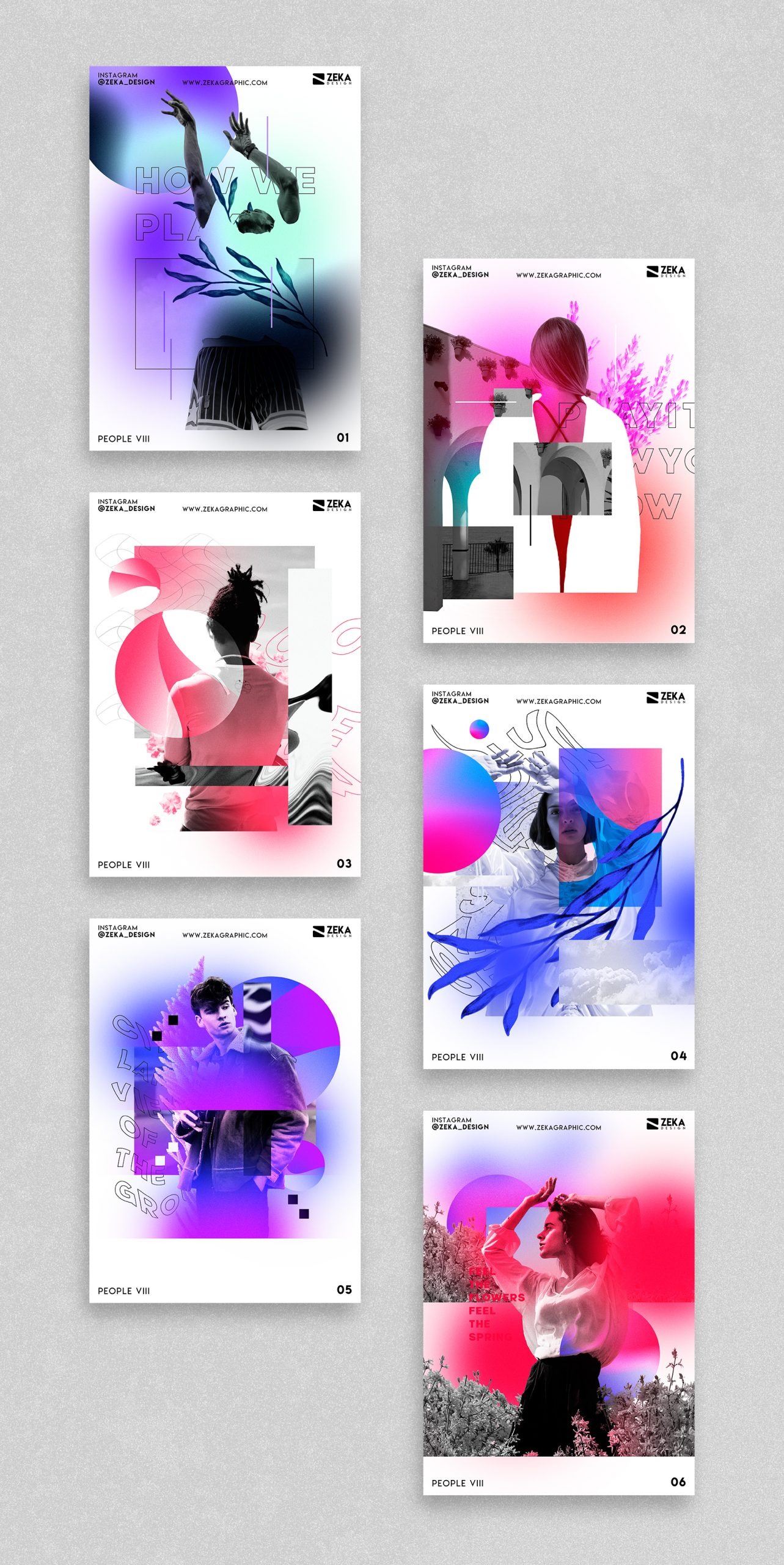 2021 People VIII Poster Design Inspiration by Zeka Design