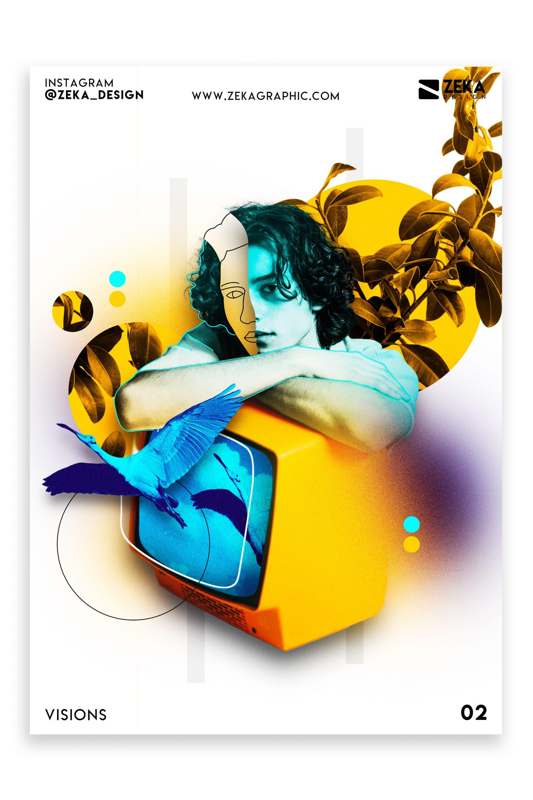 Visions Poster Design Inspiration Zeka Design Graphic Design Portfolio 2