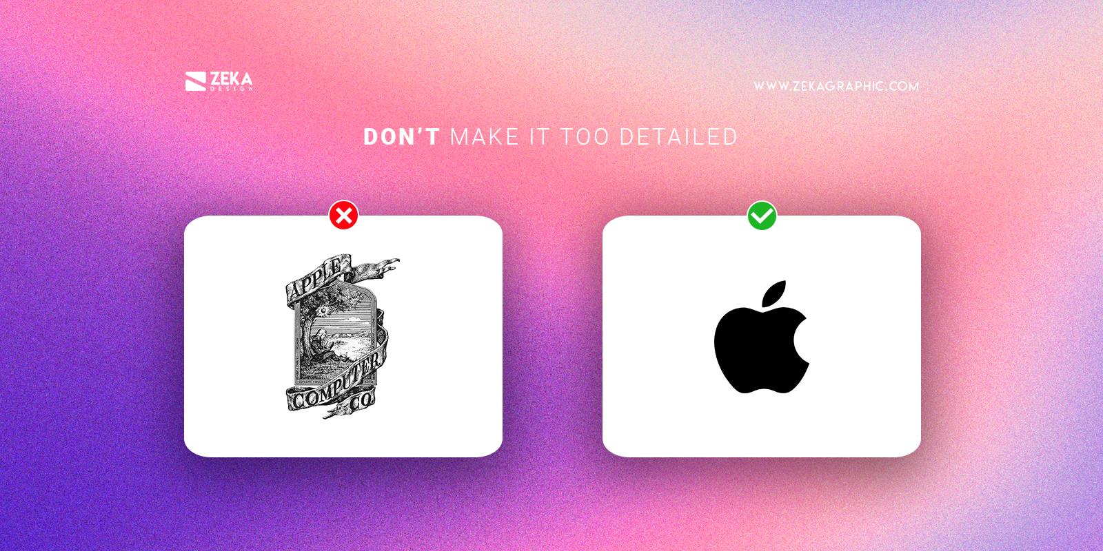 Donts Logo Design Tips Make it too detailed